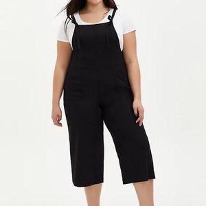 Torrid linen culotte overalls size 26 new